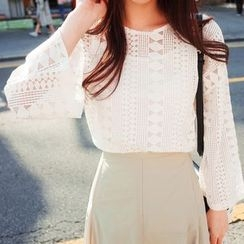 OTTI - Lace Panel Blouse