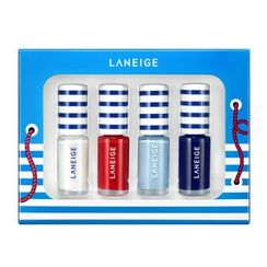 Laneige 蘭芝 - Marine Nail Kit : Nail Color 4pcs + Nail Sticker 1pc