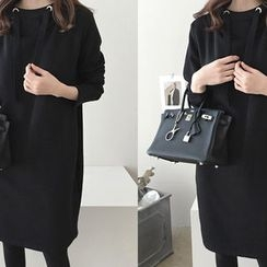DAILY LOOK - Fleece-Lined Hooded Pullover Dress