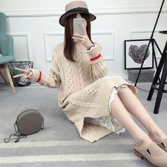 Loytio - Long-Sleeve Rip Knit Dress