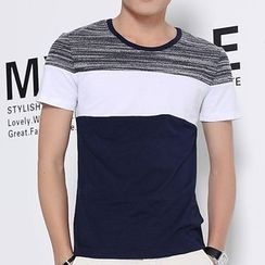 Fesso - Short-Sleeve Color-Block T-Shirt