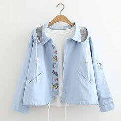 MAOMAO - Embroidered Hooded Jacket