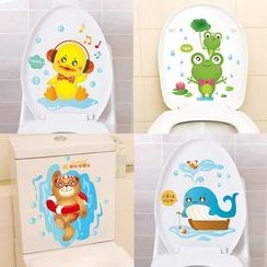 LESIGN - Cartoon Toilet Stickers