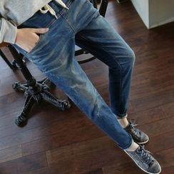 Iscat - 抽繩直筒牛仔褲