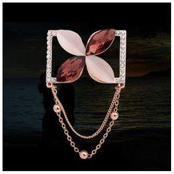 KINNO - 水晶花形胸针