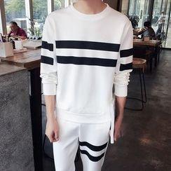 JORZ - Set: Striped Pullover + Striped Sweatpants