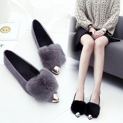 BARCA - 毛毛平跟鞋