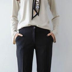 JUSTONE - Elastic Tapered Dress Pants