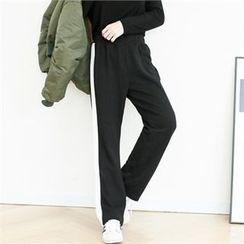 GLAM12 - Color-Block Sweat Pants