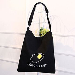 Aoba - 'EGGCELLENT' Canvas Tote Bag
