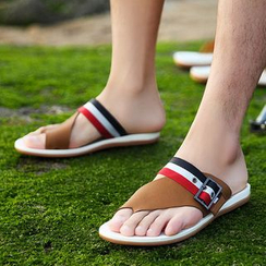 MARTUCCI - Striped Flip-Flops
