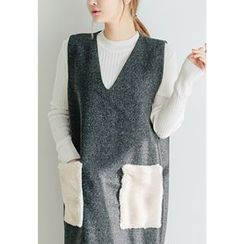 REDOPIN - Round-Neck Ribbed Sweater