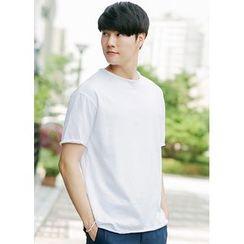 JOGUNSHOP - Round-Neck Short-Sleeve T-Shirt