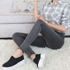 Denimot - 高腰窄身牛仔裤