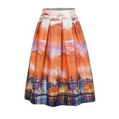 Flore - Chiffon A-Line Skirt