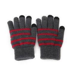 DABAGIRL - Touchscreen Stripe Knit Gloves