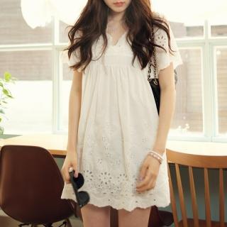 Liz Claiborne New York Short Sleeve EmbroideredEyelet Dress - QVC.com