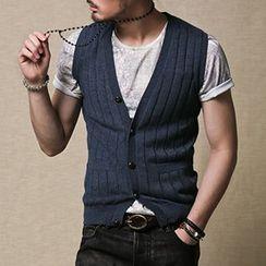Mannmix - Buttoned Knit Vest
