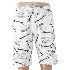BOIE - Camera Print Drawstring Swim Shorts