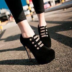 Kireina - Faux-Leather Shoe Boots