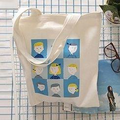 Ms Bean - Printed Canvas Shopper Bag