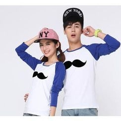 Love Affairs - Mustache Print Couple T-Shirt