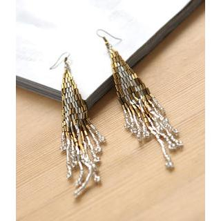 Petit et Belle - Beaded Fringed Drop Earrings