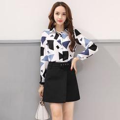 Romantica - Set: Printed Shirt + Layered Skirt