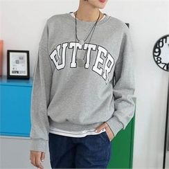 CHICFOX - Round-Neck Lettering Pullover