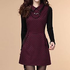 Athena - Plaid Collared Dress