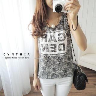 CYNTHIA - Lace-Print Tank Top