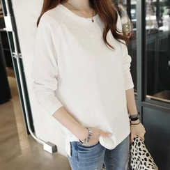 XGZ - Long-Sleeve Plain T-Shirt