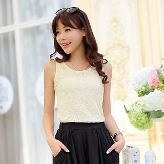 Sunny House - Lace Tank Top