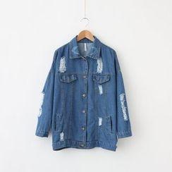 LEMONADE - 做舊牛仔布夾克