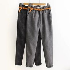 PANDAGO - Pinstriped Tapered Pants