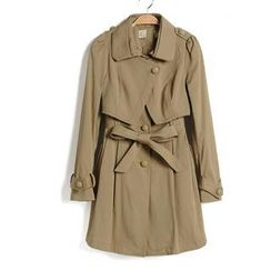 9mg - Tie-Waist Trench Coat