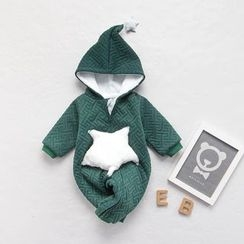 MOM Kiss - Baby Star Hooded One-piece