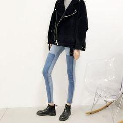 Jeans Kingdom - Two-Tone Skinny Jeans