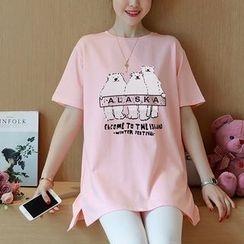 NEUF - Maternity Polar Bear Print Short Sleeve T-Shirt