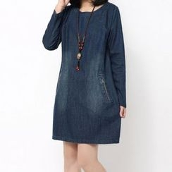 Supernova - Denim Long-Sleeve Dress