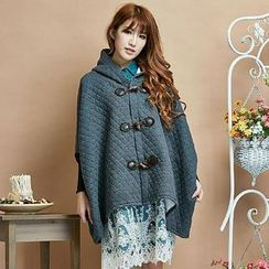 Blue Hat - Hooded Toggle Coat