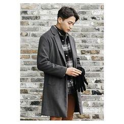 HOTBOOM - Wool Single-Breasted Coat