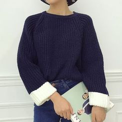 ANTEM - Color Panel Chunky Sweater