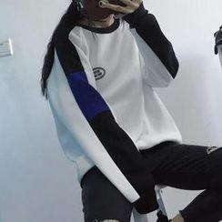 Cerauno - Couple Matching Lettering Sweatshirt