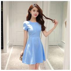 Emeline - Short-Sleeve A-Line Dress