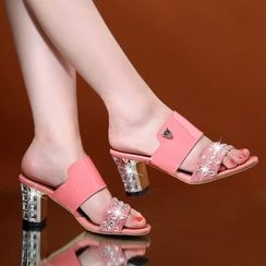 Romantina - Embellished Mule Sandals
