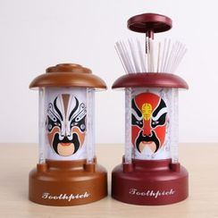 Plukish - Chinese Opera Mask Print Toothpick Holder
