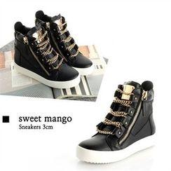 SWEET MANGO - Chain-Strap Platform Sneakers
