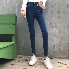 Jeans Kingdom - Slit Skinny Jeans