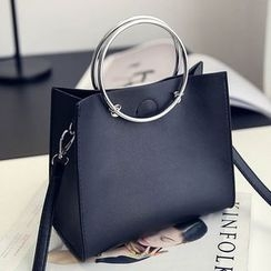 Youme - Metal Ring Handle Handbag
